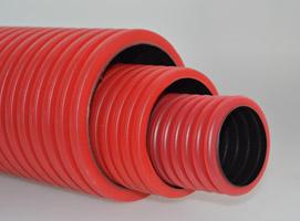 Труба гофрированная двустенная ПЭ для прокладки кабеля (с зондом и без)